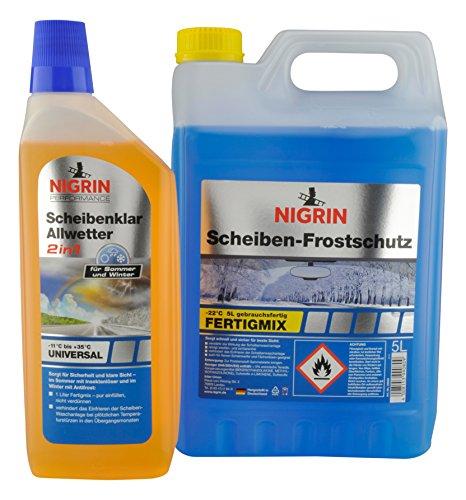 Nigrin 99080 Scheiben-Frostschutz Aktionsbundle zum 120-jährigen Jubiläum, 5 Liter