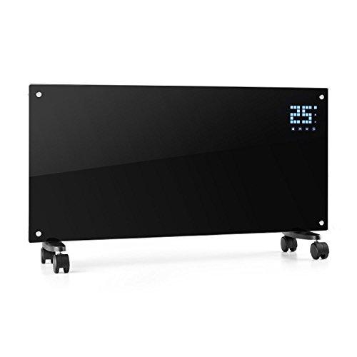 Klarstein Bornholm Elektro-Heizung E-Heizung Konvektionsheizgerät Heizgerät (1000 oder 2000 Watt, 5-45°C, LED-Touch Display, ECO-Modus, 24 h Timer, Fernbedienung) schwarz