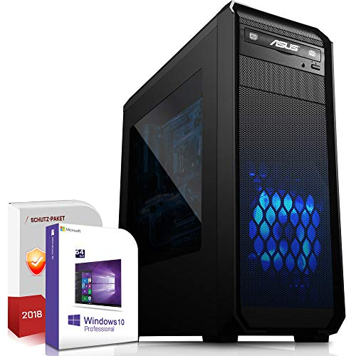Multimedia Gaming PC AMD FX-8100 8x3.7GHz Turbo |ASUS Board|16GB DDR3|512GB SSD|Nvidia GTX1050Ti 4GB 4K HDMI|USB 3.0|SATA3|Windows 10 Pro|Made in Germany|3 Jahre Garantie