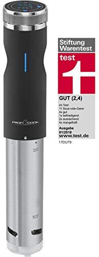 Profi Cook PC-SV 1126 Sous Vide Stick, Edelstahl, LED-Multifunktionsdisplay, Timer-Funktion, 800 W