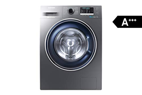 Samsung WW70J5435FX/EG Waschmaschine Frontlader/A+++/1400 UpM/7kg/85 cm Höhe/Digital Inverter Motor/grau