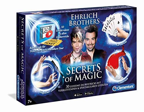 Clementoni 59048 Ehrlich Brothers-Secrets of Magic Zauberkasten, 30 geheime Zaubertricks Lernen, für Kinder ab 7 Jahre