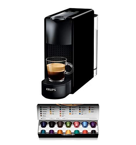 Krups Nespresso XN1108 Essenza Mini Kaffeekapselmaschine, 1260 Watt, schwarz, 0,7 Liter