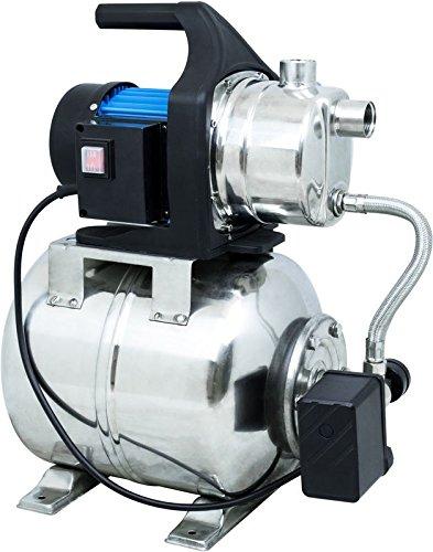 Güde 94637 HWW 1000E Hauswasserwerk (1000W, 3500l/h, Druckschalter, 19 l Edelstahltank, Förderhöhe 44M)