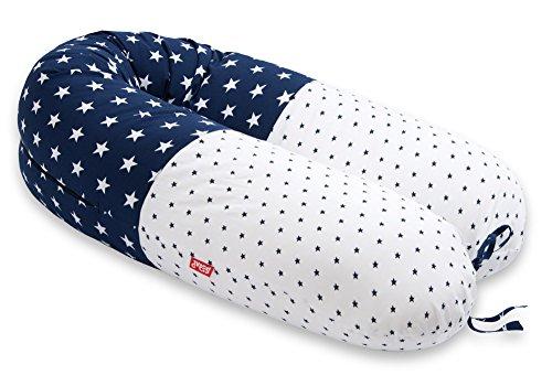 AKTION! SCAMP Stillkissen Schwangerschaftskissen inkl. Bezug verschiedenes Design NEU (Manhattan Blue)