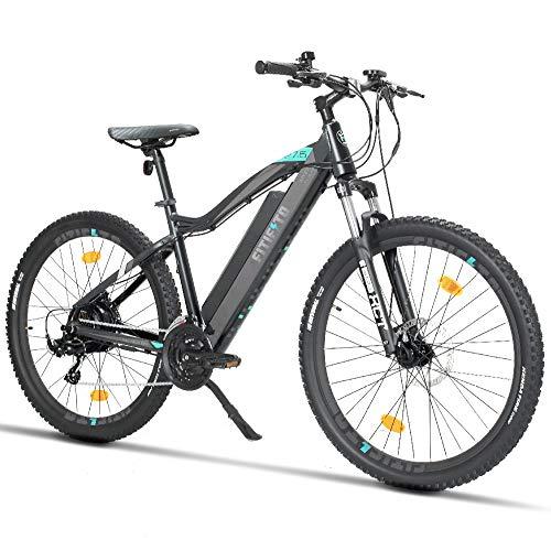 Fitifito MT27,5 Plus-48V Zoll Elektrofahrrad Mountainbike E-Bike Pedelec, 48V 13Ah 624Wh Samsung Cells Lithium-Ionen USB, 48V 250W Heckmotor, 21 Gang Shimano Schaltung