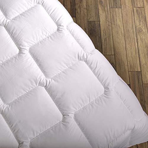Wendre Premium Bettdecke Flauschige, Weiche & Warme Decke | Ideal für Allergiker | Waschmaschinenfest | Mikrofaser Bezug | 135x200 - Double/Full Size | Weiß