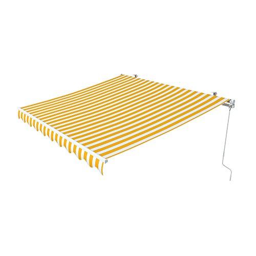 paramondo Gelenkarmmarkise Easy, 2,5 x 2 m, Stoff: Block, gelb-weiß