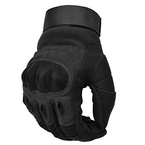COTOP Unisex- Erwachsene, Touch Screen Hard Knuckle Handschuhe Motorrad ATV Reiten Full Fing (XL), schwarz