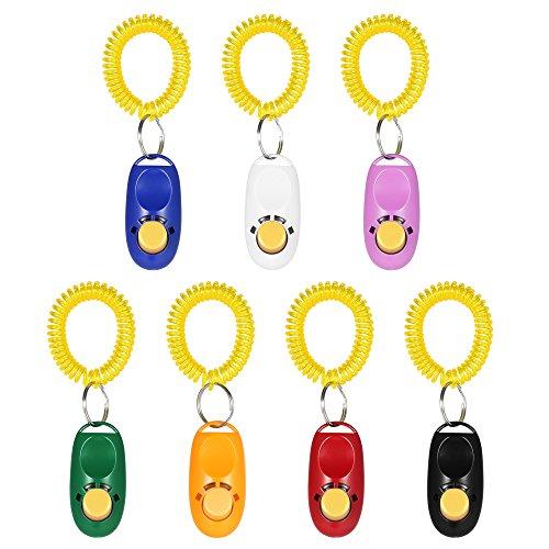 Anself 7 Stück Clicker Klicker Clickertraining für Hunde Katzen Haustier Ink. Armband