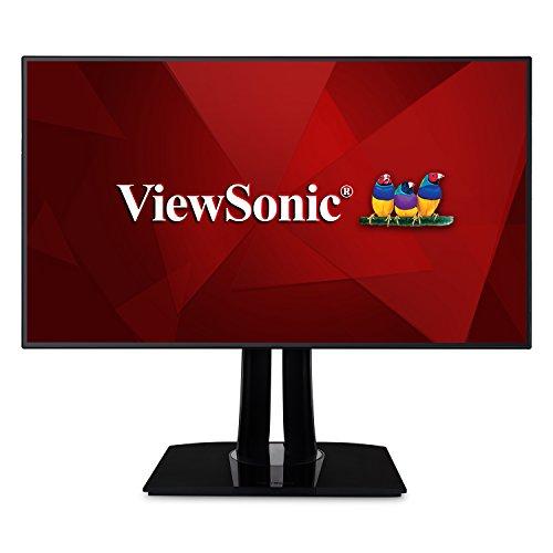 ViewSonic VP3268-4K 80 cm (32 Zoll) Fotografen Monitor mit Kalibrierfunktion (4K, IPS-Panel, 100% sRGB, HDR10, USB 3.0, HDMI 2.0, DP, mDP) Schwarz