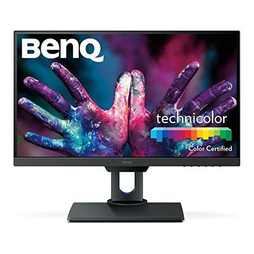 BenQ PD2500Q 63,5 cm (25 Zoll) Monitor (2K Designer, 2560 x 1440 Pixel QHD, werkseitig kalibriert, ultra-schlankes Blendendesign, höhenverstellbar, flimmerfrei, Anti Glare, HDMI) schwarz
