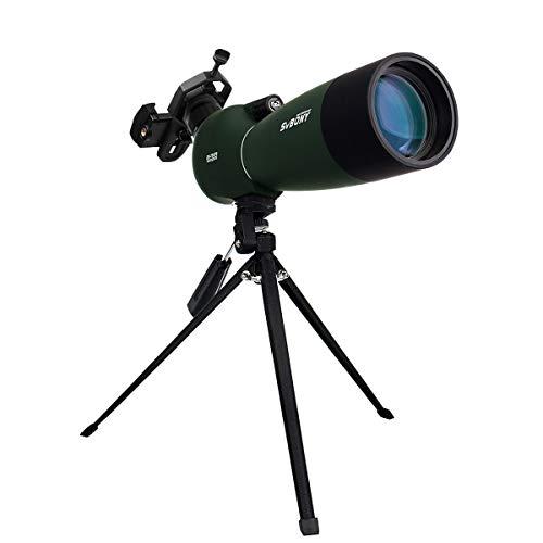 Svbony SV28 Spektiv 25-75x70 IP65 Wasserdicht 45 Grad Abgewinkelt Okular BAK-4 Stativ Handy Adapter Spektiv für Sportschützen Vogelbeobachtung