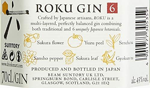 Roku Japanese Craft Roku Gin (1 x 0.7 l)