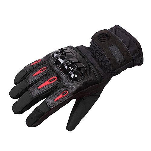 DOXUNGO Unisex Motorradhandschuhe wasserdicht warm Handschuhe Herren Touchscreen Herbst Winter für Motorrad Radfahren Wandern Outdoor Sport (Schwarz, XL)