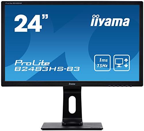 iiyama ProLite B2483HS-B3 61cm (24 Zoll) LED-Monitor Full-HD (VGA, HDMI, DisplayPort, Höhenverstellung, Pivot) schwarz