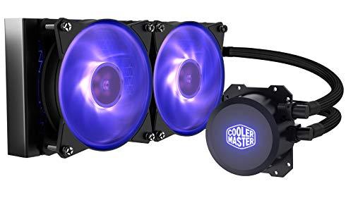 Cooler Master MasterLiquid ML240L RGB-CPU-Wasserkühler - Individuelle Lichteffekte, duale Wärmeableitpumpe und doppelte 120-mm-Luftausgleichslüfter