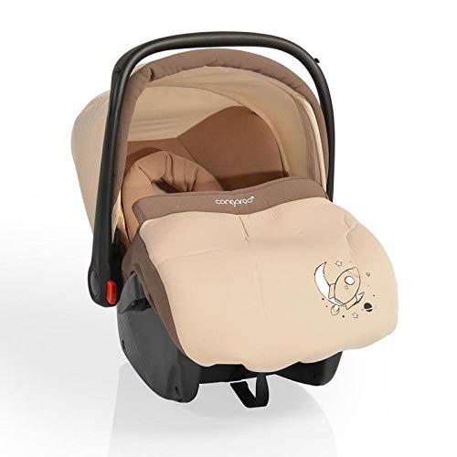 CANGAROO YKO705 Kindersitz Babyschale Apollo Gruppe 0+ (0 bis 13 kg) YKO-705 mit Sonnendach, Fußsack, beige