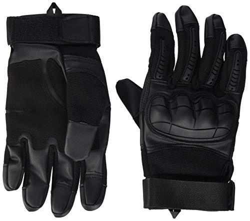 VBIGER Motorradhandschuhe Taktische Handschuhe Vollfinger Handschuhe für Motorrad Fahrrad Airsoft Militär Paintball, Stil 3-schwarz, L