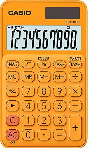 Casio SL-310UC-RG Taschenrechner, 10-stellig, in zehn Farbvarianten