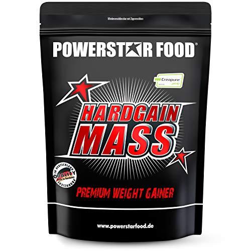 HARDGAIN MASS | 1600g | PREMIUM WEIGHT GAINER | Ohne Zuckerzusatz | Höchster Proteingehalt 27% | Mit Kreatin (Creapure) | Masse, Kraft & schneller Muskelaufbau | MADE IN GERMANY | Strawberry