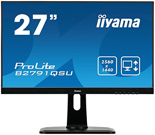 iiyama ProLite B2791QSU-B1 68,5cm (27 Zoll) LED-Monitor QHD (DVI, HDMI, DisplayPort, USB3.0, FreeSync, Höhenverstellung, Pivot) schwarz
