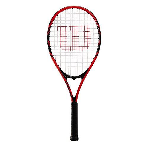 Wilson Tennisschläger, Federer, Unisex, Anfänger und Freizeitspieler, Griffstärke L3, Rot/Schwarz, WRT30480U3