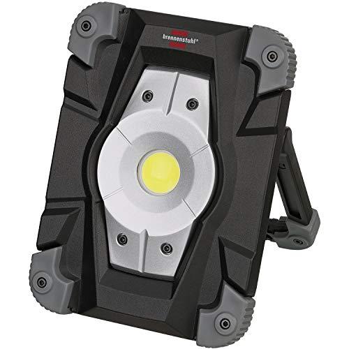 Brennenstuhl Akku LED Arbeitsstrahler (Außenleuchte 20 Watt, Baustrahler IP54, Fluter Tageslicht) schwarz/grau