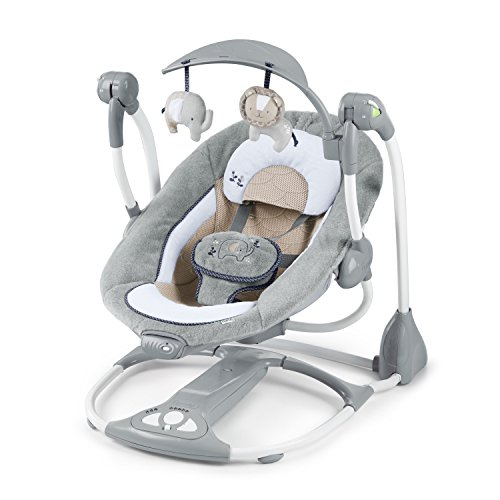 Ingenuity, Townsend  2 in 1 Babyschaukel und -sitz, zusammenklappbar, mit Vibrationen, 5 Schaukelgeschwindigkeiten, mehr als 8 Melodien und Lautstärkeregler