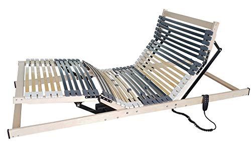Matratzen Perfekt 7-Zonen Motor-Lattenrost mit 5-facher Härtegrad-Regulierung und 42 Federleisten, elektrisch verstellbar und orthopädisch mit elektrischen Motor-Rahmen (90 x 200 cm)