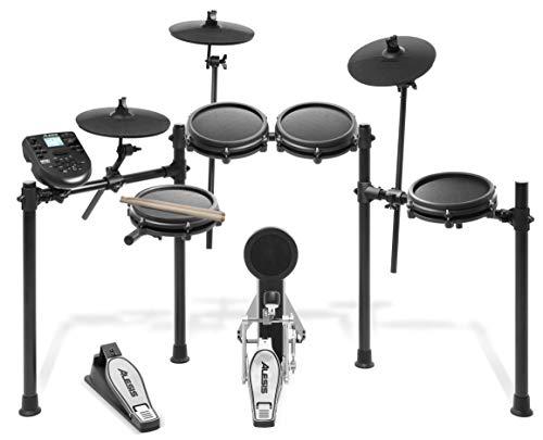 Alesis Nitro Mesh Kit - E Schlagzeug Elektronisch, achtteilig, aus Aluminium, mit Drumsticks, 385 integrierten Sounds und 60 Play-Along Tracks