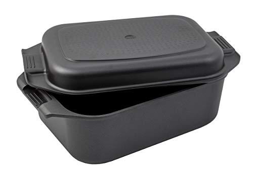 Karcher Bräter 2in1 (Aluguss, 8,7 Liter, Induktion, inkl. Deckel und Topfhandschuhen) schwarz