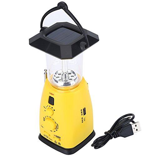 Tbest Solar Radio mit Kurbel Ernstfall LED Taschenlampe Solarradio mit Kurbel Kurbelradio Weltempfänger mit Handyladefunktion Solar,Tragbares Radio Wasserdicht USB Dynamo Notfall AM/FM Wetter Radio