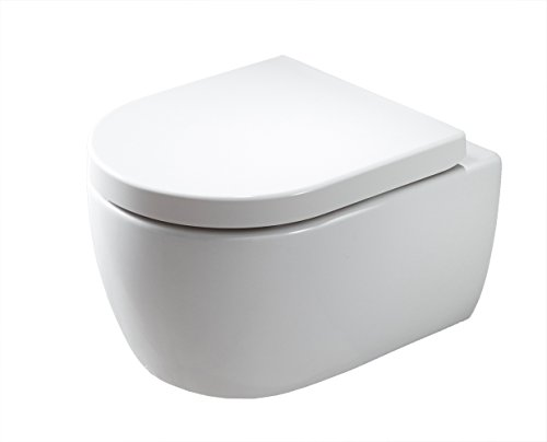 Spülrandloses Wand-Hänge WC NANO NT2039 - inkl. Softclose-Deckel, Softclose-Sitz:Standard