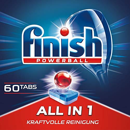 Finish All in 1, XXL Pack, Spülmaschinentabs, Spülmaschine, Geschirr, Geschirrspüler, Spülen, Reinigung, 60 Tablets