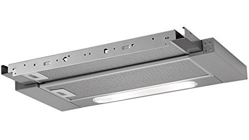 AEG DPB3631M Flachschirm-Dunstabzugshaube / Abluft oder Umluft / 60cm / Grau / max. 308 m³/h / min. 59 - max. 65 dB(A) / C / Kurzhubtasten