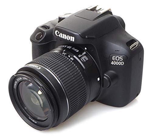 Canon EOS 4000D Kit 18-55mm DC III Spiegelreflexkamera, schwarz