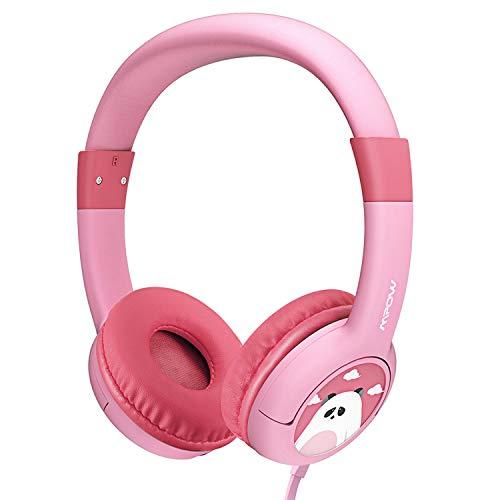 Mpow Kopfhörer Kinder, Kopfhörer für Kinder mit 85dB Lautstärke Begrenzung Gehörschutz & Musik-Sharing-Funktion, Kinderkopfhörer mit Kinderfreundliche sichere Lebensmittelqualität, Rosa