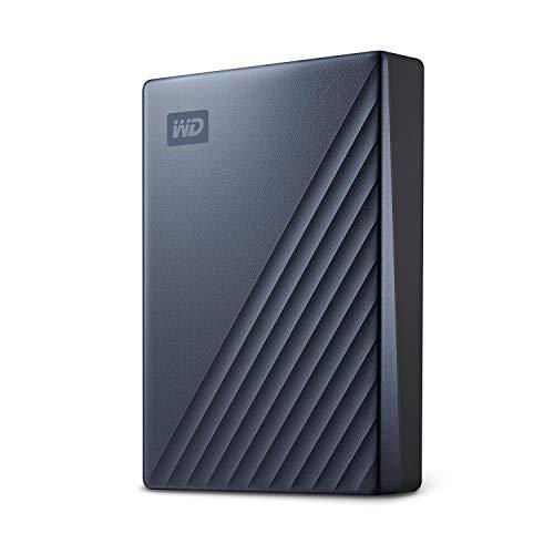 WD MY Passport Ultra externe Festplatte  4 TB (mobiler Speicher, Metallgehäuse, WD Discovery Software, automatische Backups, Passwortschutz) Blau