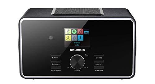 """Grundig DTR 6000 2.1 BT DAB+ WEB \""""All-in-one\""""-Internetradio mit Bluetooth, Multiroom und Empfang Schwarz"""
