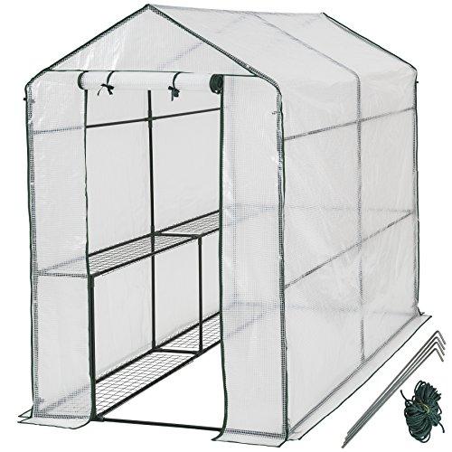 TecTake 800284 - Gewächshaus, Schützt Pflanzen vor Kälte, Regen, Hagel, Wind und Frost - Diverse Modelle (186x120x190 cm   Nr. 401861)