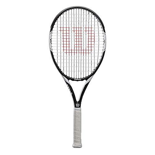 Wilson Tennisschläger, Federer Team 105, Unisex, Anfänger und Freizeitspieler, Griffstärke L3, Weiß/Schwarz, WRT30730U3