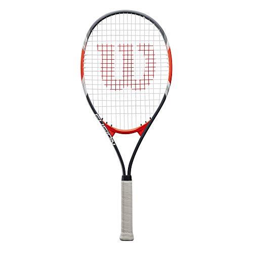 Wilson Tennisschläger Fusion XL, für Anfänger und Freizeitspieler, schwarz/rot, WRT30270U3