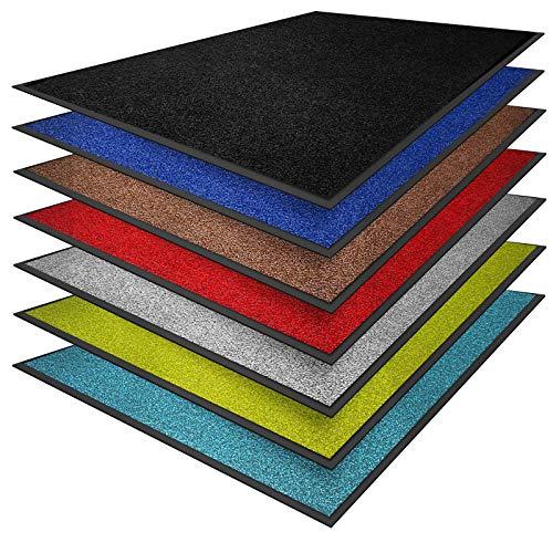 casa pura® Premium Fußmatte in attraktiver Optik | Schmutzfangmatte in vielen Größen | schwarz | 90x150cm