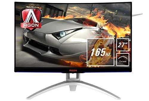 AOC Gaming Agon AG272FCX6 68 cm (27 Zoll) Curved Monitor (HDMI, USB Hub, DisplayPort, 1ms Reaktionzeit, 1920 x 1080, 165 Hz, FreeSync) schwarz/silber