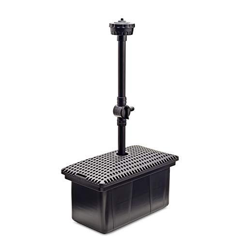 Unterwasser Teichfilter UF 3000, Teichfilter Set mit Wasserspiel und Pumpe, für bis zu 3000 l geeignet