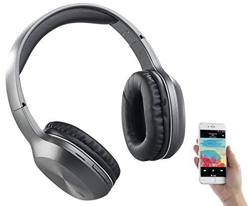 auvisio Kopfhörer mit Radio: Over-Ear-Headset, Bluetooth, MP3, FM & Auto Connect, microSD bis 64 GB (Kopfhörer MP3)