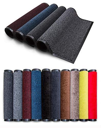 Carpet Diem Rio Schmutzfangmatte - 5 Größen - 10 Farben Fußmatte mit äußerst starker Schmutz und Feuchtigkeitsaufnahme - Sauberlaufmatte in dunkel grau - anthrazit - schwarz 40 x 60 cm