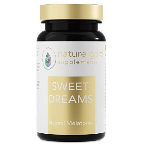 SWEET DREAMS Einschlafhilfe - Natürliches Melatonin - Komplex aus Montmorency Sauerkirsche, L-Tryptophan, 5-HTP, Kamille, Magnesium, Biotin +++