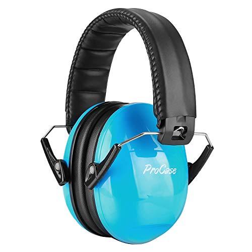 ProCase Lärmschutz Schallschutz Kopfhörer Kinder Gehörschutz Ohrenschützer mit verstellbar Kopfbügel für Kind und Jugend 3-12 mit SNR 27dB,Faltbar Kapselgehörschutz,Kleinkind Noise Cancelling -Blau